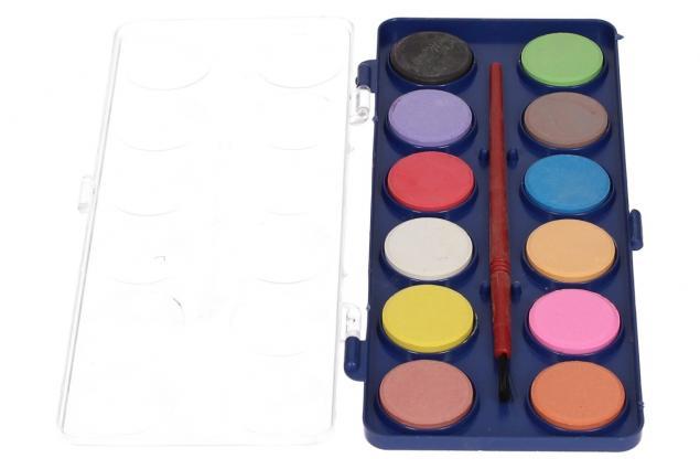 Foto 3 - Vodové barvy 12 barev se štětcem malé