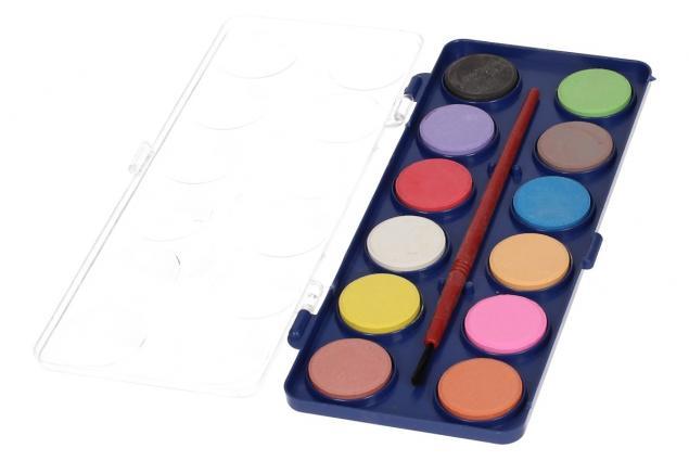Foto 5 - Vodové barvy 12 barev se štětcem malé