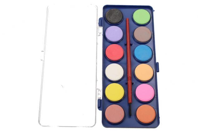 Foto 7 - Vodové barvy 12 barev se štětcem malé