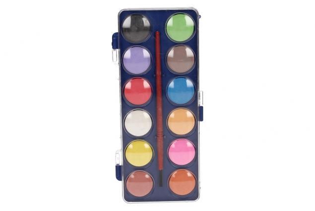 Foto 2 - Vodové barvy 12 barev se štětcem malé