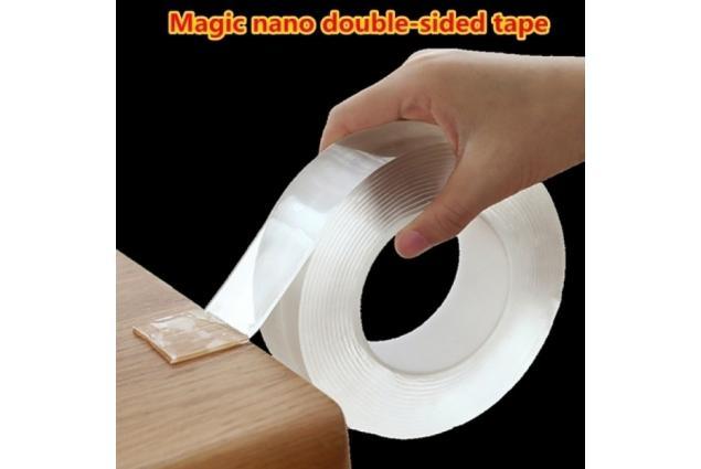 Foto 2 - Oboustranná nano gelová lepící páska 160 x 3 cm