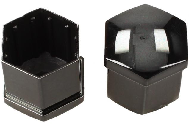 Foto 5 - Sada ozdobných krytů pro šrouby kol černé 19 mm 20 ks