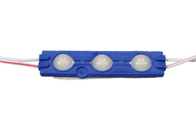 Foto 4 - Nalepovací silná tříbodová LED dioda modrá