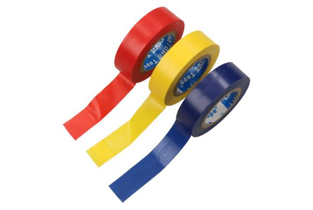 Foto 3 - 3ks Elektroizolačních pásek 15mm x 15m- modrá, žlutá, červená