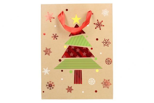 Foto 3 - Dárková vánoční taška se stromečkem 24x18 cm