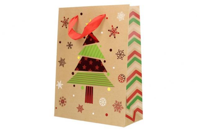 Foto 4 - Dárková vánoční taška se stromečkem 24x18 cm