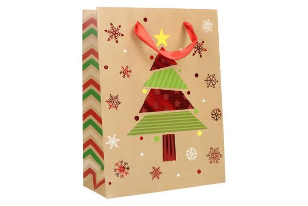 Foto 2 - Dárková vánoční taška se stromečkem 24x18 cm