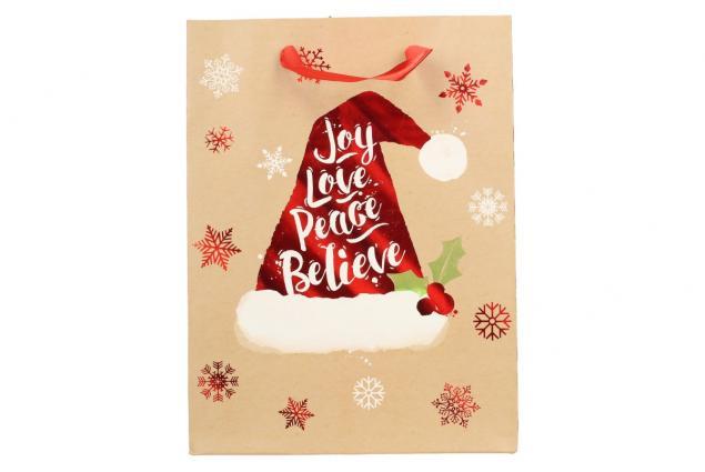 Foto 3 - Dárková vánoční taška s čepicí 24x18 cm