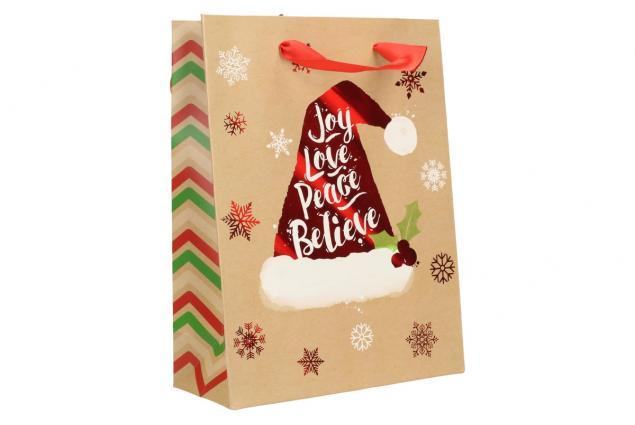 Foto 2 - Dárková vánoční taška s čepicí 24x18 cm