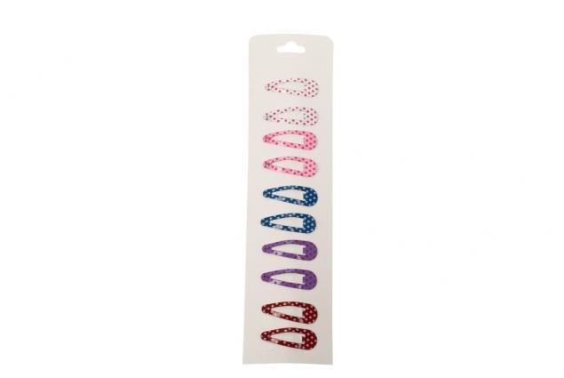 Foto 4 - Sponky do vlasů 10 kusů barevné puntíkaté