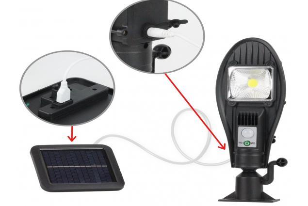 Foto 11 - LED solární venkovní světlo 100W JX-258