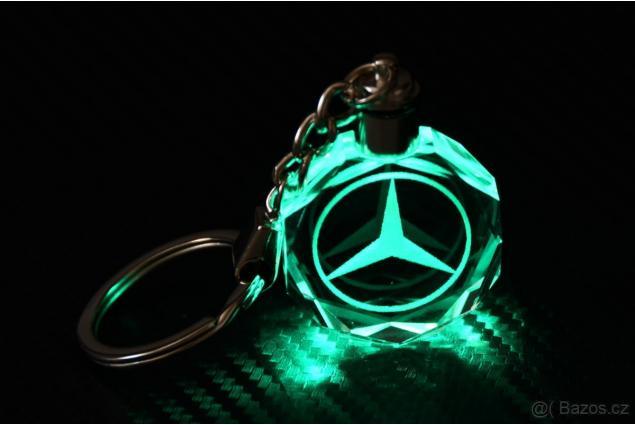 Foto 3 - Klíčenka skleněná LED - Mercedes
