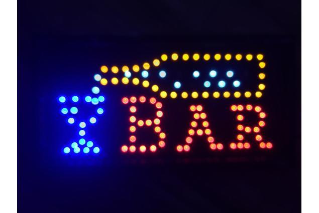 Foto 2 - Barevná světelná LED tabule BAR