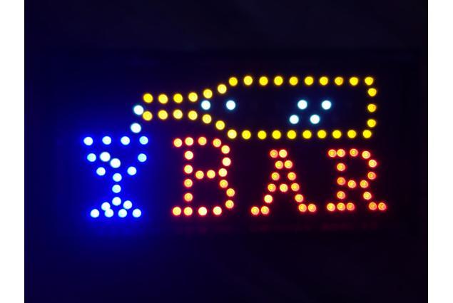 Foto 3 - Barevná světelná LED tabule BAR
