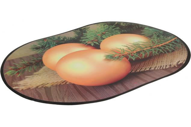 Foto 3 - Prostírání na stůl oválné 40x28 cm Zlaté ozdoby a větvičky