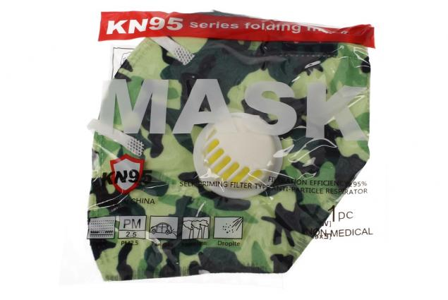 Foto 5 - Respirační rouška KN95 maskáčová zelená