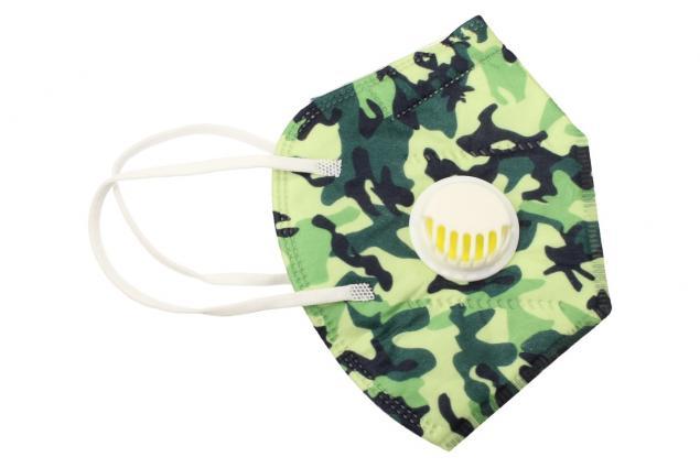 Foto 3 - Respirační rouška KN95 maskáčová zelená