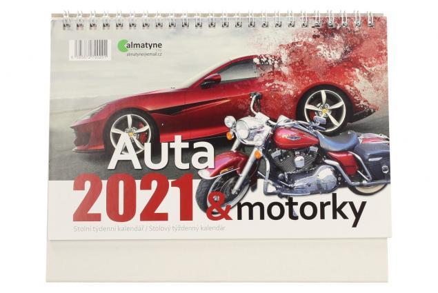 Foto 2 - Kalendář 2021 Auta a motorky 22 x 17 cm