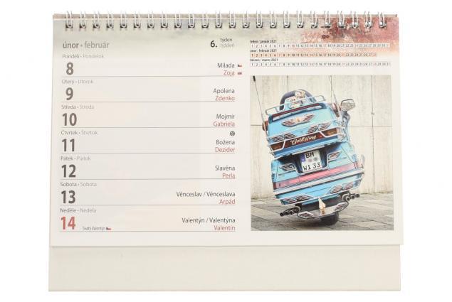 Foto 4 - Kalendář 2021 Auta a motorky 22 x 17 cm