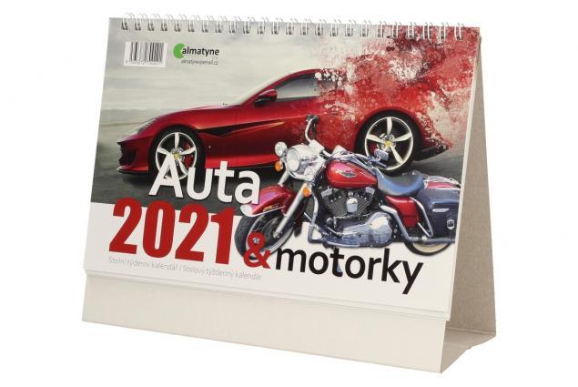 Foto 3 - Kalendář 2021 Auta a motorky 22 x 17 cm