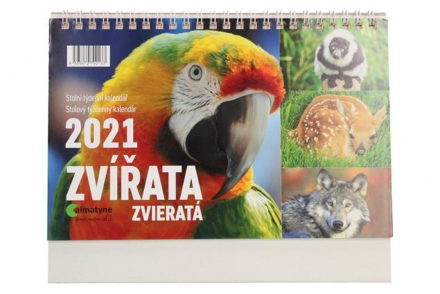 Foto 2 - Kalendář 2021 Zvířata 22 x 17 cm