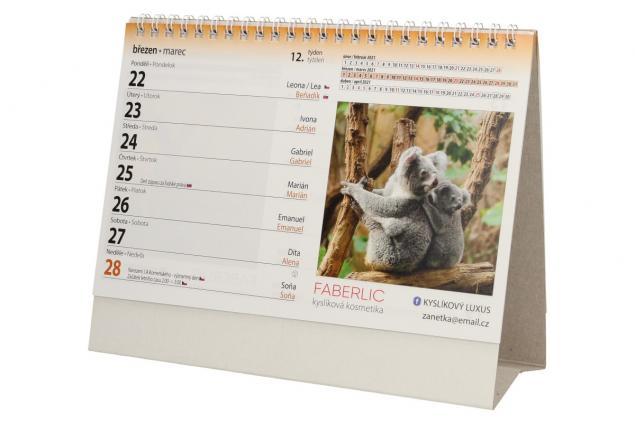 Foto 4 - Kalendář 2021 Zvířata 22 x 17 cm