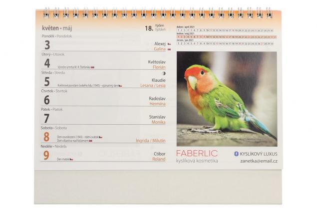 Foto 5 - Kalendář 2021 Zvířata 22 x 17 cm