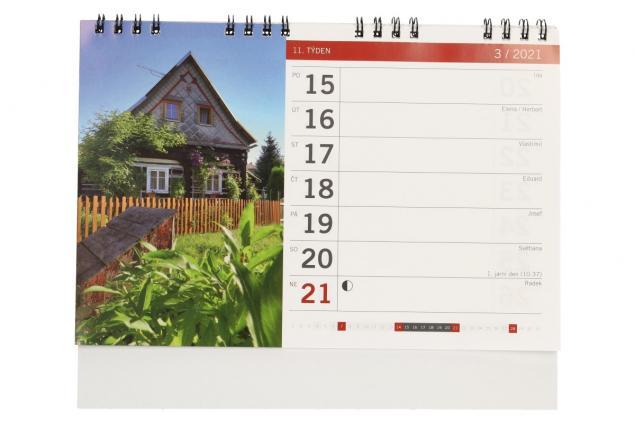 Foto 4 - Kalendář 2021 Chaty a chalupy 22 x 18 cm