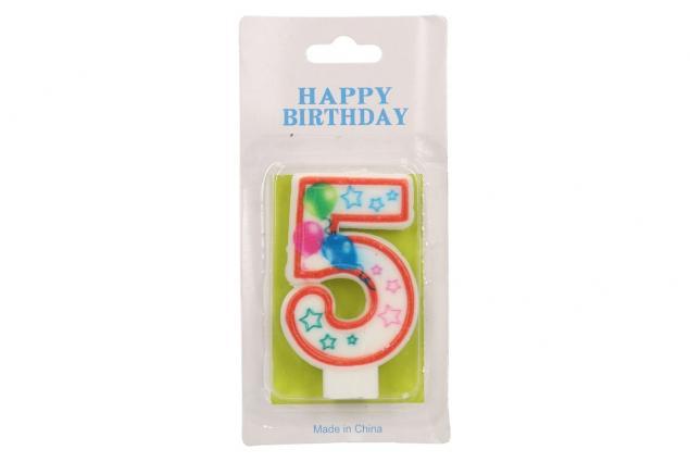 Foto 2 - Svíčka na dort- číslo 5