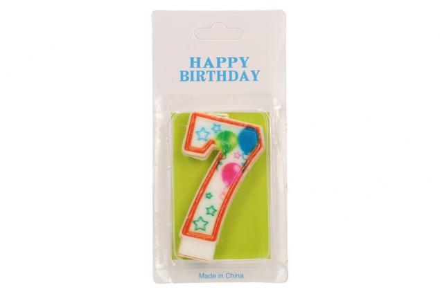 Foto 2 - Svíčka na dort- číslo 7