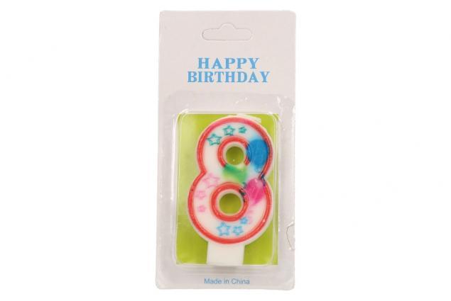 Foto 2 - Svíčka na dort- číslo 8