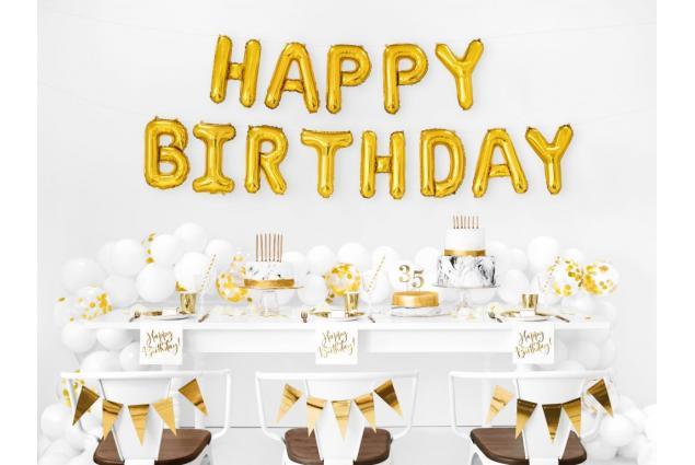 Foto 2 - Balónky Happy Birthday S 17´´ Zlaté