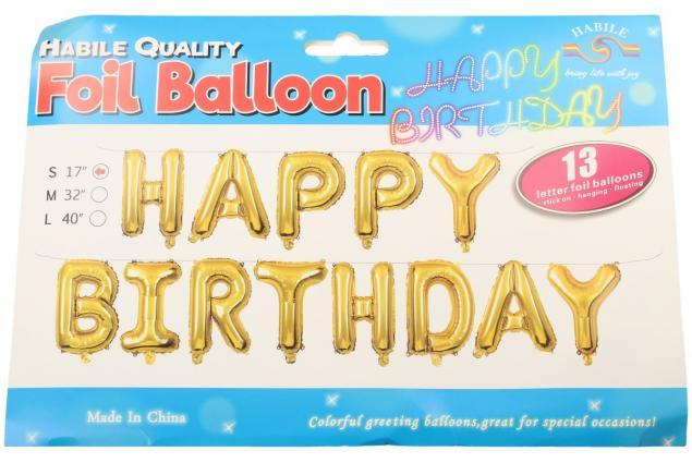 Foto 3 - Balónky Happy Birthday S 17´´ Zlaté