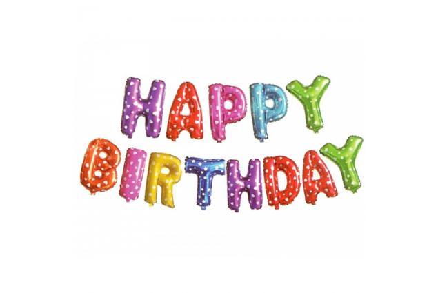Foto 2 - Balónky Happy Birthday S 17´´ Barevné