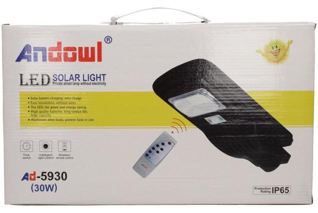 Foto 8 - LED solární venkovní světlo 30W na dálkové ovládání