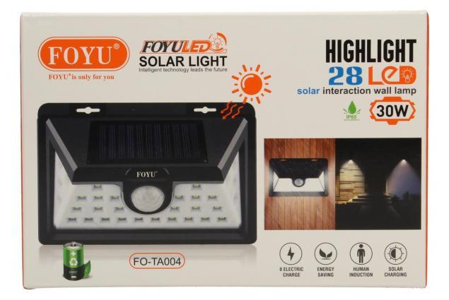 Foto 9 - LED solární světlo s pohybovým čidlem FO-TA004 30W