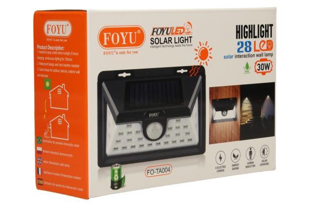 Foto 10 - LED solární světlo s pohybovým čidlem FO-TA004 30W