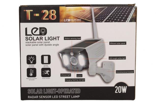 Foto 8 - Imitace bezpečnostní kamery T-28 s LED solárním světlem
