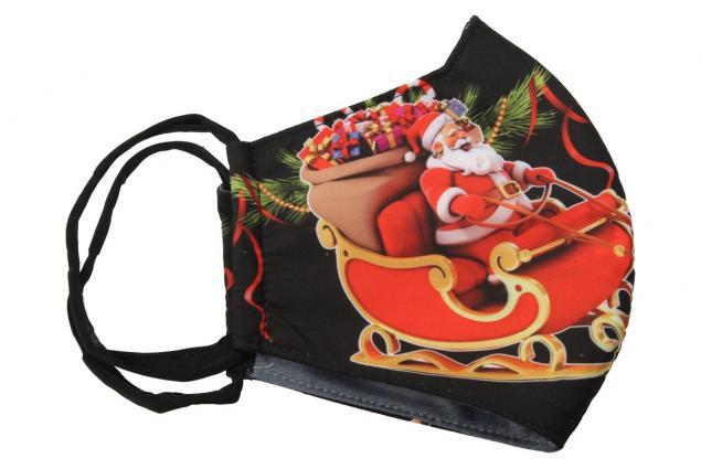 Foto 3 - Rouška vánoční Santa na saních