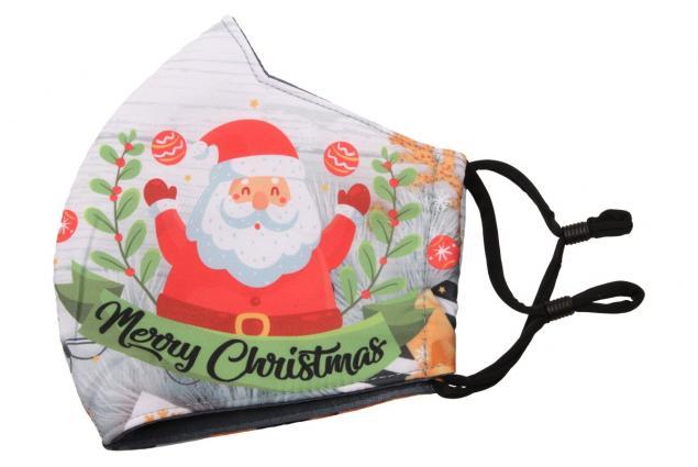 Foto 3 - Rouška vánoční Santa a sněhulák