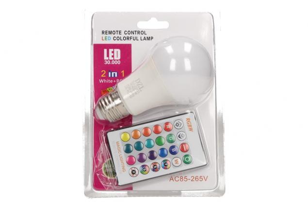 Foto 5 - LED RGB žárovka W na dálkové ovládání