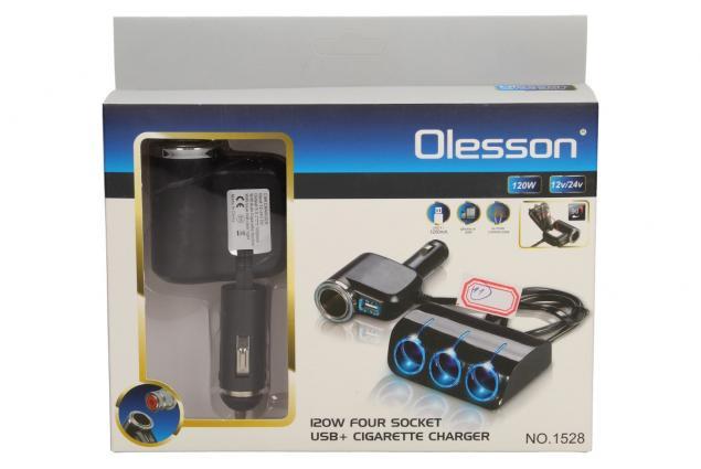 Foto 15 - Roztrojka autozapalovače s LED světlem a USB