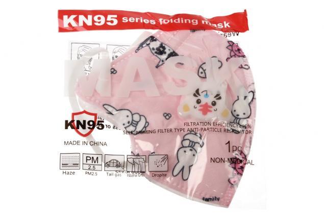 Foto 7 - Dětská respirační rouška KN95 růžová