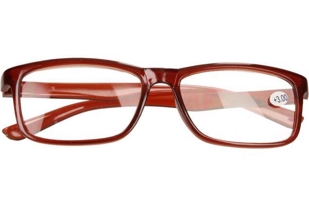 Foto 2 - Dioptrické brýle +3,00 hnědé