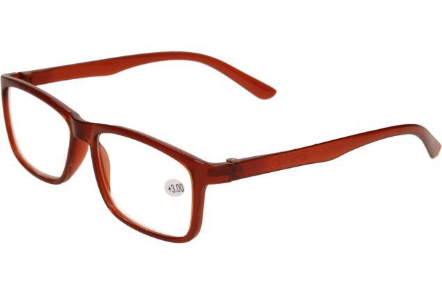 Foto 3 - Dioptrické brýle +3,00 hnědé