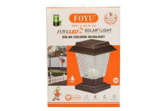 Foto 8 - LED solární dekorativní lampa FO-TA017 5W