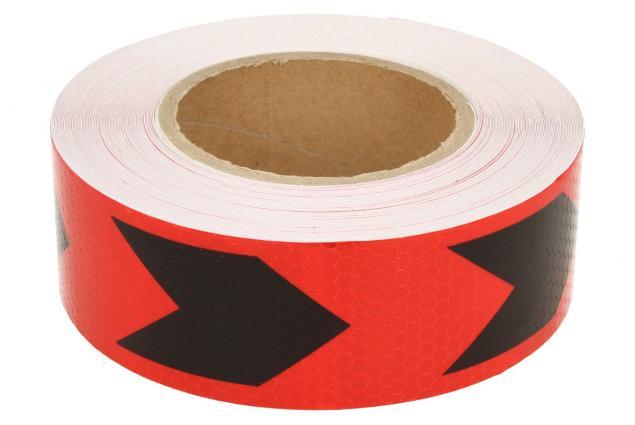 Foto 2 - Reflexní lepící páska šipky červená-černá 8219