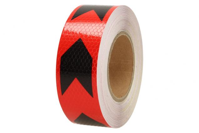 Foto 3 - Reflexní lepící páska šipky červená-černá 8219