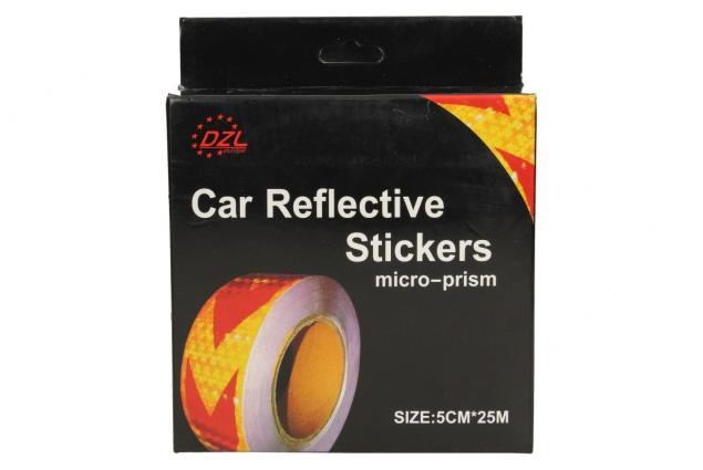 Foto 4 - Reflexní lepící páska šipky žlutá-černá