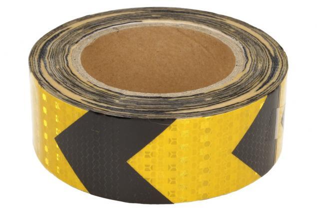 Foto 2 - Reflexní lepící páska šipky žlutá-černá